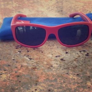 RED YOUTH RAY-BAN SUNGLASSES